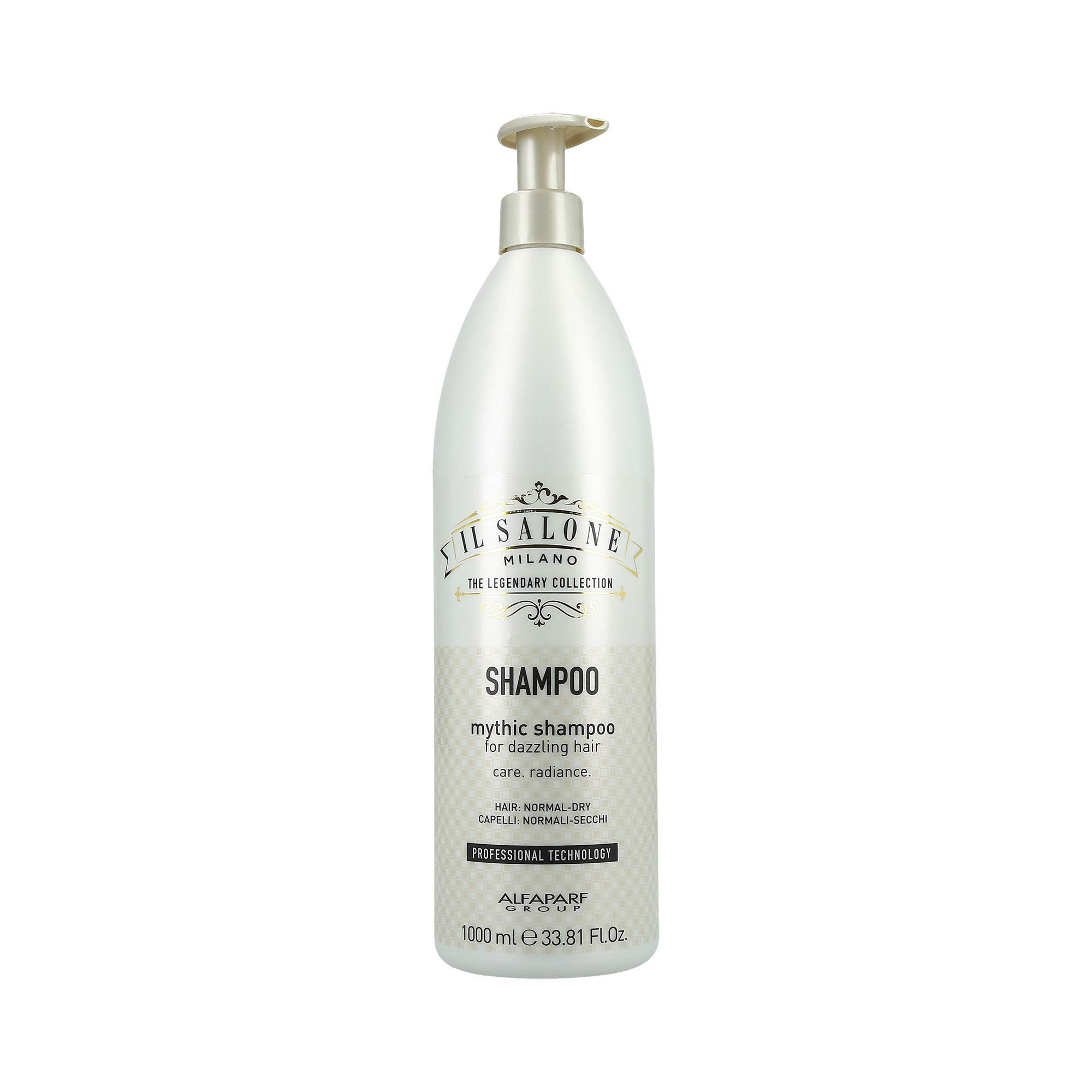 Il Salone Milano Professional Mythic Shampoo for Normal to Dry Hair - Moisturizes and Adds Shine - Premium Quality - 33.81 Fl. Oz. / 1000ml by Il Salone Milano