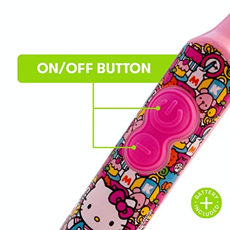 Amazon.com: Firefly Power Protect Battery Toothbrush with Antibacterial Character Cap - Hello Kitty: Beauty