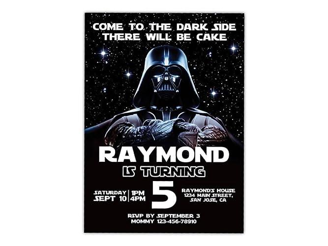 Star Wars Birthday Party Invitations ANY AGE Custom