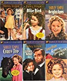 Shirley Temple 6 VHS Video Collection - Bright Eyes Littlest Rebel Rebecca Baby Blue Bird Curly