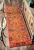 nuLOOM SPRE21A Hand Tufted Montesque Wool Runner Rug, 2' 6' x 8', Orange