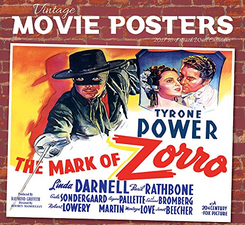 2017 Monthly Wall Calendar - Vintage Movie Posters