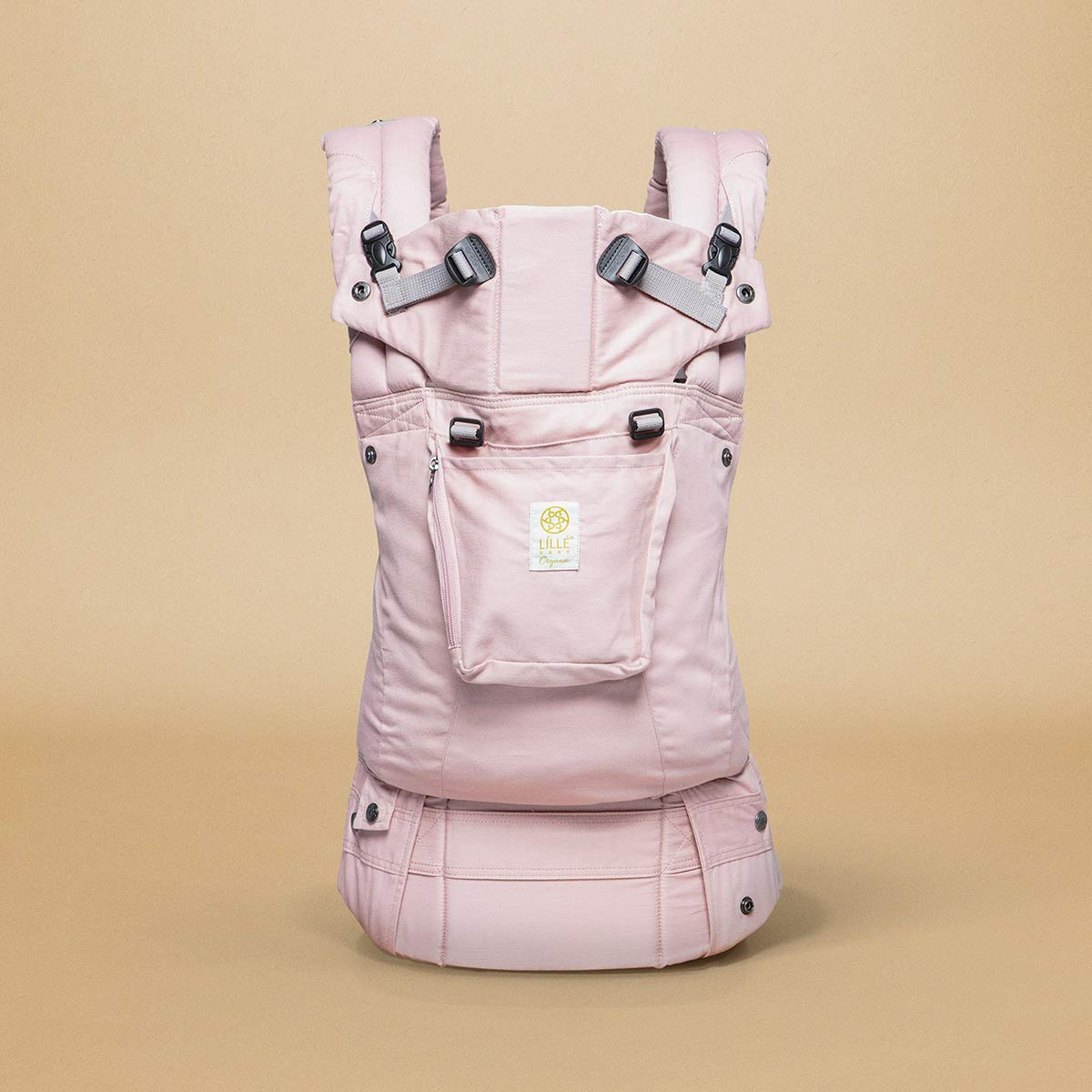 Organic Cotton Blushing Pink L/ÍLL/Ébaby Complete Organi-Touch SIX-Position Ergonomic Baby /& Child Carrier