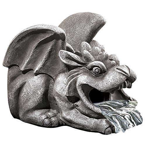 Winged Gargoyle Downspout (Cute Halloween Yard Decoration Ideas)