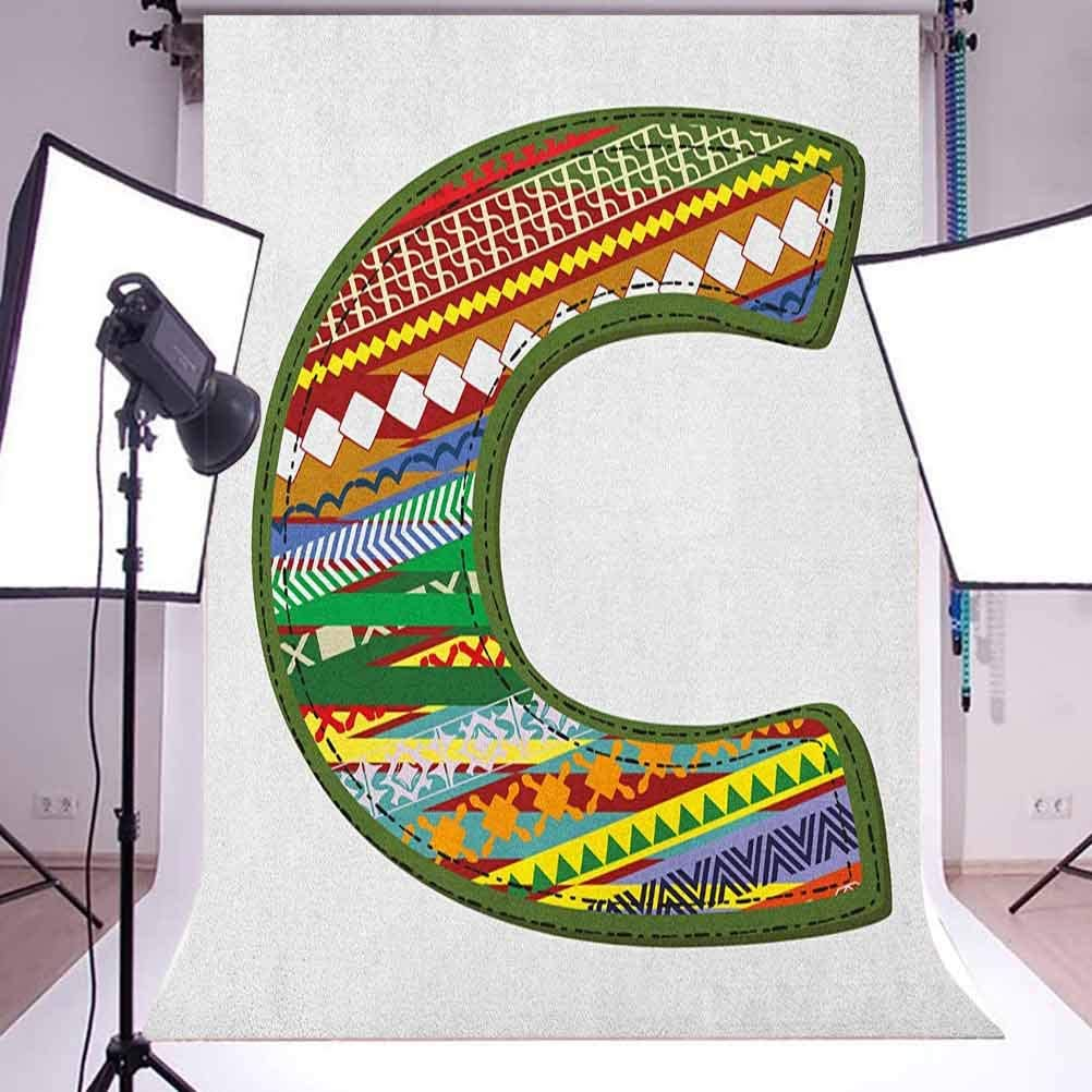 7x10 FT Dragon Vinyl Photography Backdrop,Traditional Chinese Creature Holding A Large Pearl Zodiac Signs Folk Tattoo Graphic Background for Photo Backdrop Baby Newborn Photo Studio Props