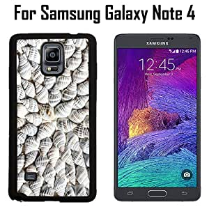 Aquatic Cockleshell Custom Case/ Cover/Skin *NEW* Case for Samsung Galaxy Note 4 - Black - Rubber Case (Ships from CA) Custom Protective Case , Design Case-ATT Verizon T-mobile Sprint ,Friendly Packaging - Slim Case