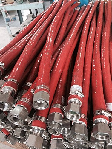 25mm silicone fiberglass heat resistant sleeve heat insulation tube oxide red silicone fire tube 20 meters by YJINGRUI