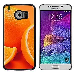 EJOY---Cubierta de la caja de protección la piel dura para el / Samsung Galaxy S6 EDGE / --Anaranjado lindo