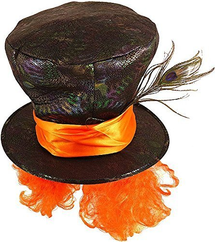 Black Mad Hatter Hat With (Mad Hatter Hat With Hair)