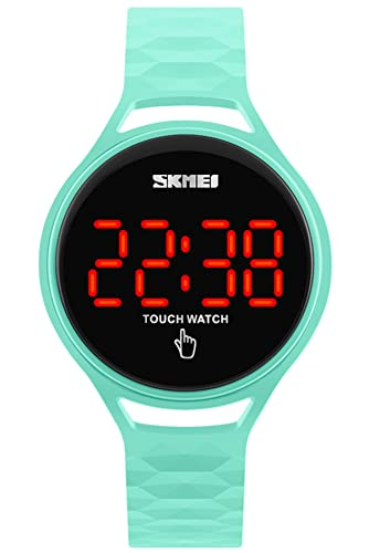 Skmei LED Touch Screen Reloj Digital Mujer Hombre Deportivo Negro Rojo Verde Azul Amarillo: Amazon.es: Relojes