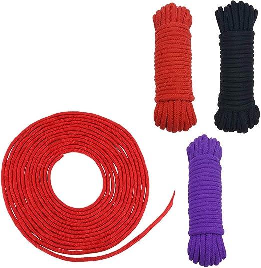 Ldouxx - Cuerdas de algodón Suave Natural de 96 pies para el hogar ...