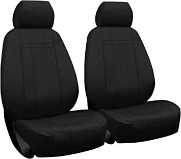 TOYOTA TACOMA 2016-2019 BLACK S.LEATHER CUSTOM MADE FIT FRONT SEAT COVER