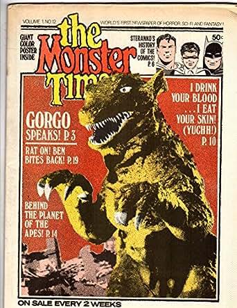 MONSTER TIMES 12 VF-NM Steranko, Gorgo, Planet / Apes