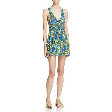 477e7a598a47 Free People Women's Floral Print Washed Ashore Mini Dress, Blue ...