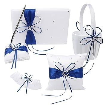 Amazon.com: Anillos de boda con flor para niña, cesta para ...