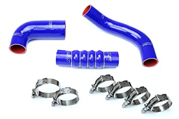 16-18 Honda Civic 1.5L Turbo HPS Blue Reinforced Silicone Intercooler Hose Kit