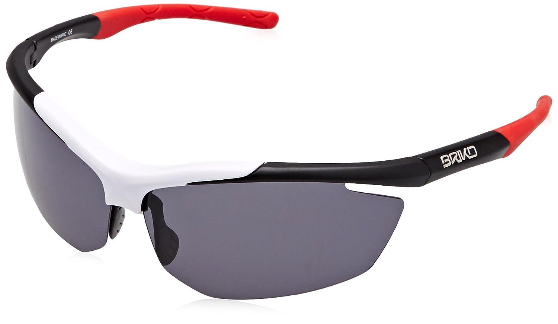 5ffaf34c8ec Briko Trident - Unisex Cycling Glasses - 1-Size - Black White Red   Amazon.co.uk  Sports   Outdoors