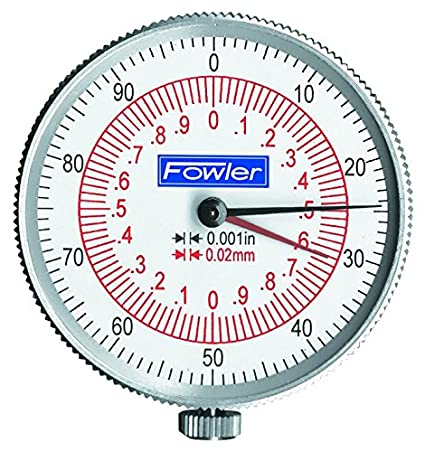 0.001 Graduation Interval 8 Maximum Measuring Fowler 52-030-008 Stainless Steel Inch//Metric Reading Dial Caliper