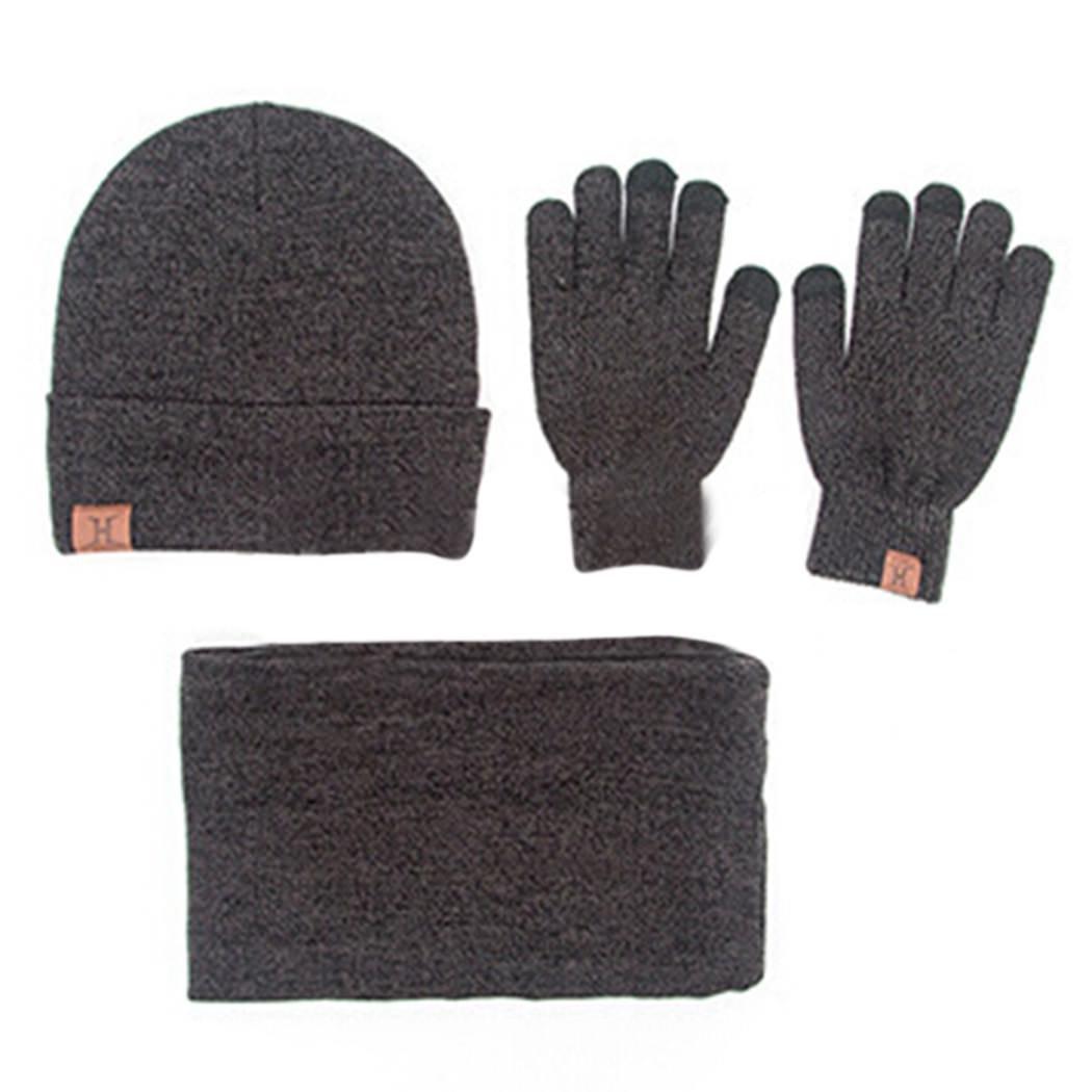 MIOIM 4Pcs Womens Mens Fleece Neck Gaiters Ski Scarf Beanie Touch Screen Glove Set S224796302