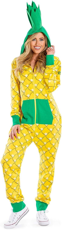 Tipsy Elves' Women's Pineapple Costume - Funny Yellow Fruit Halloween Jumpsuit