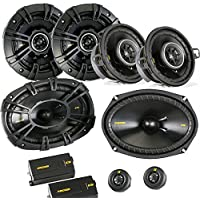 Kicker for Dodge Ram Truck 02-11 speaker bundle- CS 6x9 3-way component speakers, CS 5.25 speakers, & CS 3.5 speakers