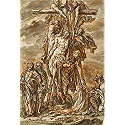 Oil Painting 'Descent From The Cross, About 1696 By Phillip Roos', 20 x 30 inch / 51 x 75 cm , on High Definition HD canvas prints is for Gifts And Bar, Bath Room And Gym Decoration, sale