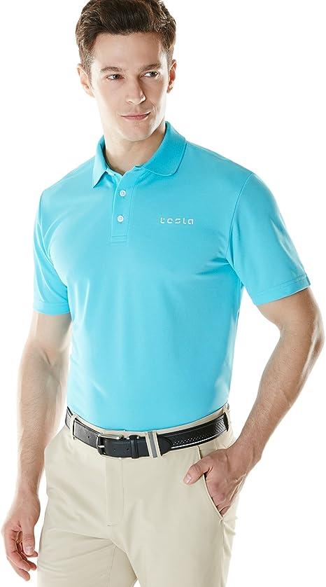 Polo Tesla de manga corta para hombre, diseño deportivo, tejido ...