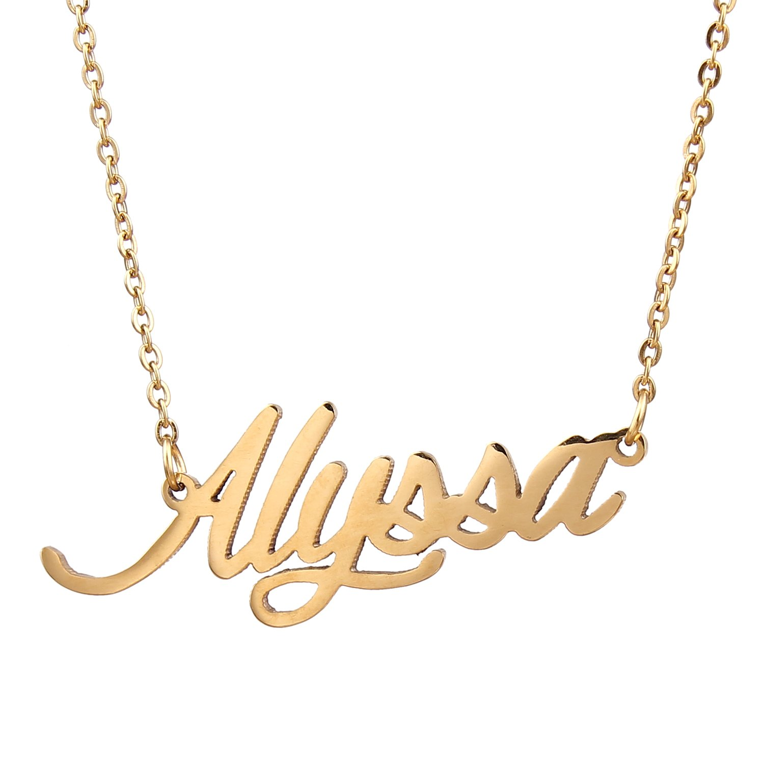 yellow any jewellery gold buy personalized en ebay us ru necklace name plated