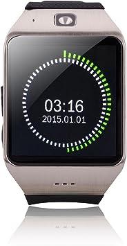 Uhappy UW1 1,55 Reloj teléfono Bluetooth Reloj Impermeable para Android Smartphone Plateado: Amazon.es: Electrónica