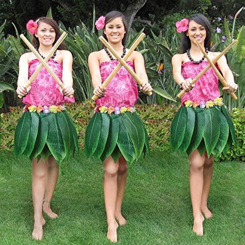 SEN Falda de Hojas de simulación de Fiesta Hawaiana Disfraz de ...
