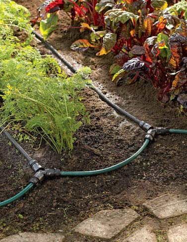 (Garden Watering System, Row Drip Irrigation Snip-n-Drip Soaker System)