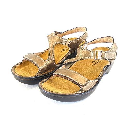 Naot Damen Schuhe Sandaletten Faso Echt Leder Gold 14473