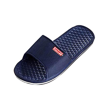 2ae16e862 Gotd Boy Men Solid Flat Bath Slippers Flip Flop Wedge Sandals Slide  Platform Thongs Open Toe