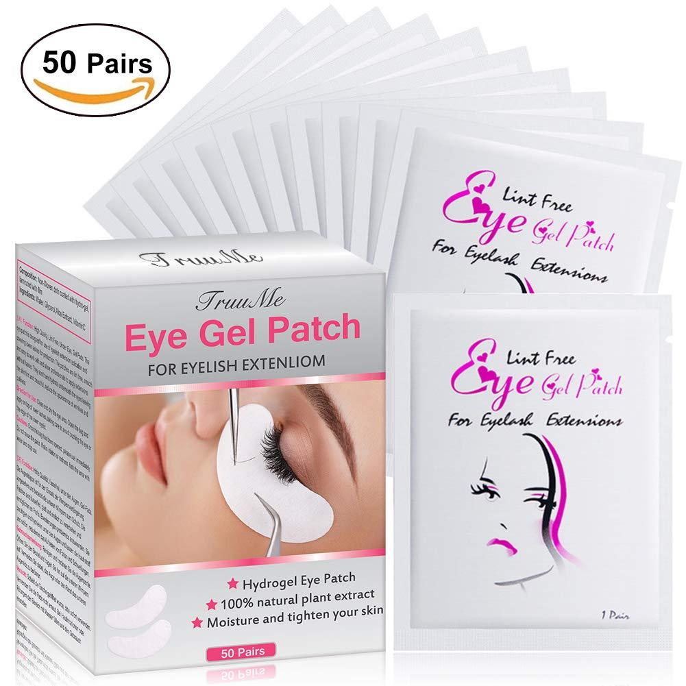 EyePatch, EyePad, Gel Patches, EyePatchOcchiaie, - Alta qualità, senza pelucchi, sotto gli occhi, cuscinetti in gel - Vestibilità dinamica per le estensioni delle ciglia bellezza delle ciglia (50 paia) TruuMe