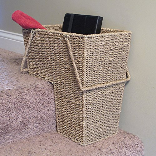 Etonnant Amazon.com: Household Essentials ML 5647 Seagrass Wicker Stair Step Basket  With Handle | Natural Brown: Kitchen U0026 Dining
