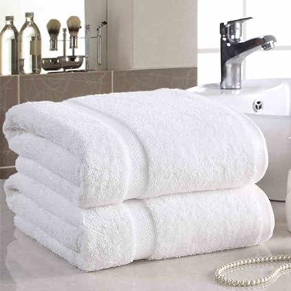 ZHAS Cuidado fácil una toalla de baño de algodón toallas blancas engrosamiento Aumento de adultos Hotel
