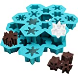 Chocolate Moulds, Silicone Moulds Snowflake Mould for Candy Chocolate Soap Ice Cube Christmas Silicon Bakeware Mould (2 Pack)