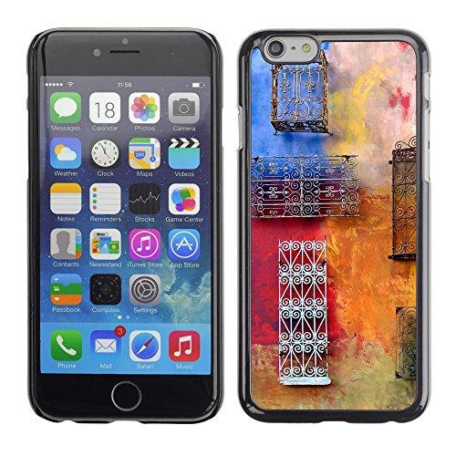 """Premio Sottile Slim Cassa Custodia Case Cover Shell // V00001957 Colorful mur // Apple iPhone 6 6S 6G 4.7"""""""