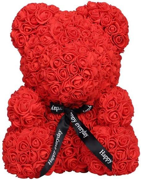 Rose Bear Teddy Bear Cub Forever Artificial Rose Anniversary Christmas Valentine