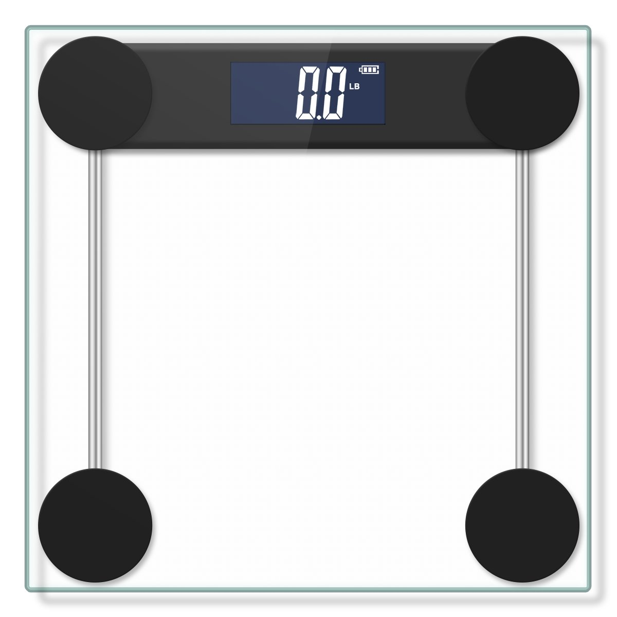 Electronic Bathroom Scale with Tempered Right Angle Glass Balance Platform and Advanced Step-On Technology, Digital Weight Scale has Large Easy Read by Yoobure