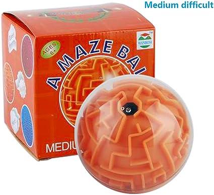 WANBOSI Magic 3D Maze Ball Puzzle Cube Labyrinth Brain Teaser Puzzle Game Maze