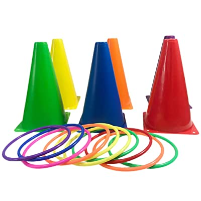 Bageek Ring Toss Set Funny Interactive Stacking Cone Ring Toss Game Set Toss Yard Toy: Toys & Games