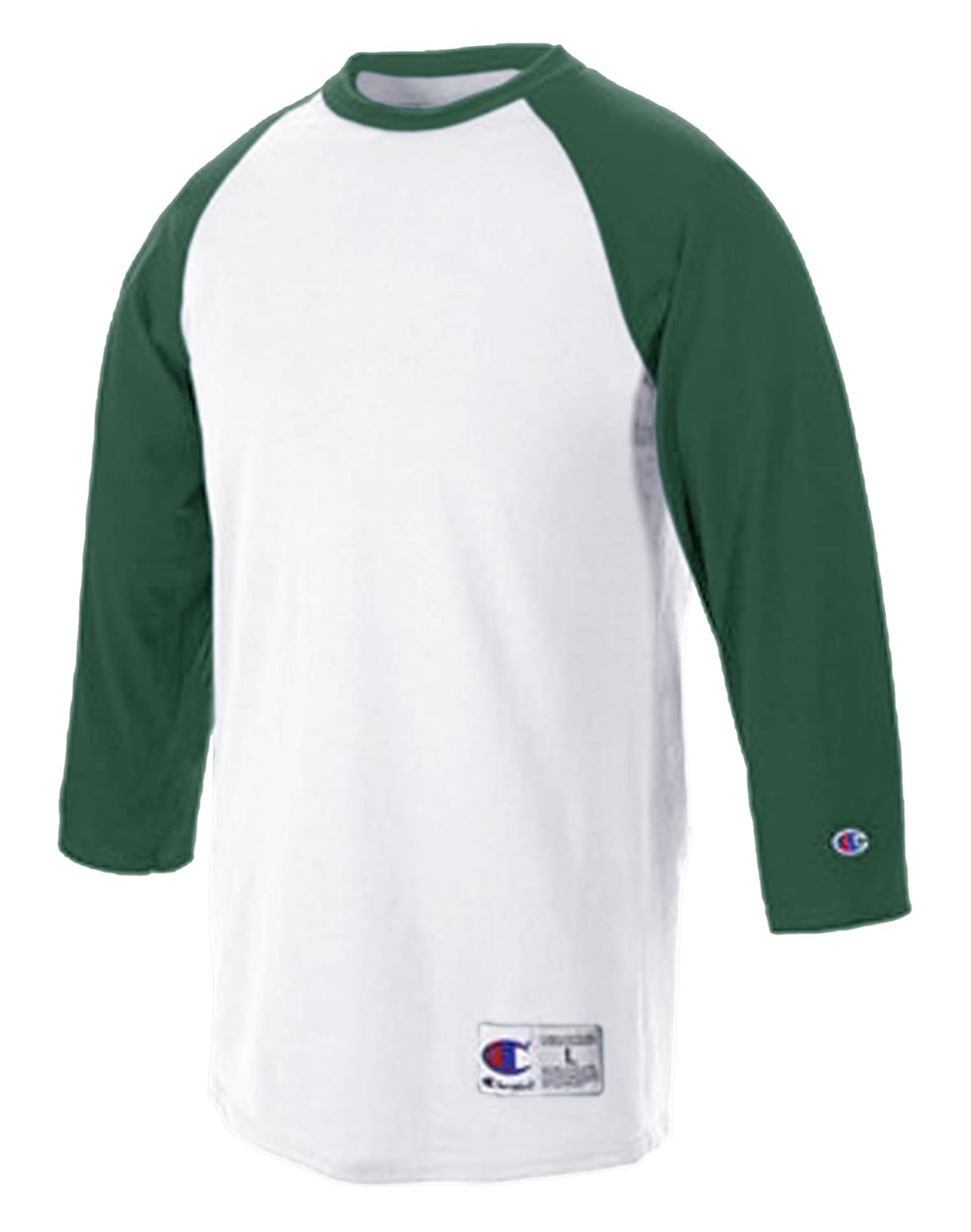 Champion SHIRT メンズ B004EC2AWG S|White/ Dark Green White/ Dark Green S