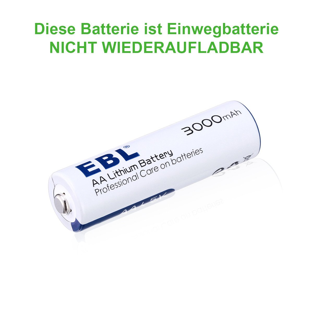 EBL 8 Stück AA Lithium Batterie 1.5V 3000mAh sofort einsatzbereit
