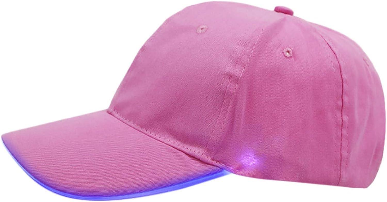 Feitong Baseball Cap Men Hats for Women up Hat Glow Club Party Baseball Hip-Hop Adjustable Sports Cap