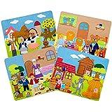 "Sprogs SPG-ENA1021-SO  Felt Storyboards with Storage Bag, 3 Little Pigs, Gingerbread Man, Goldilocks, Grade: Kindergarten to Kindergarten, 12.5"" x 15"" Size, Red Riding Hood"