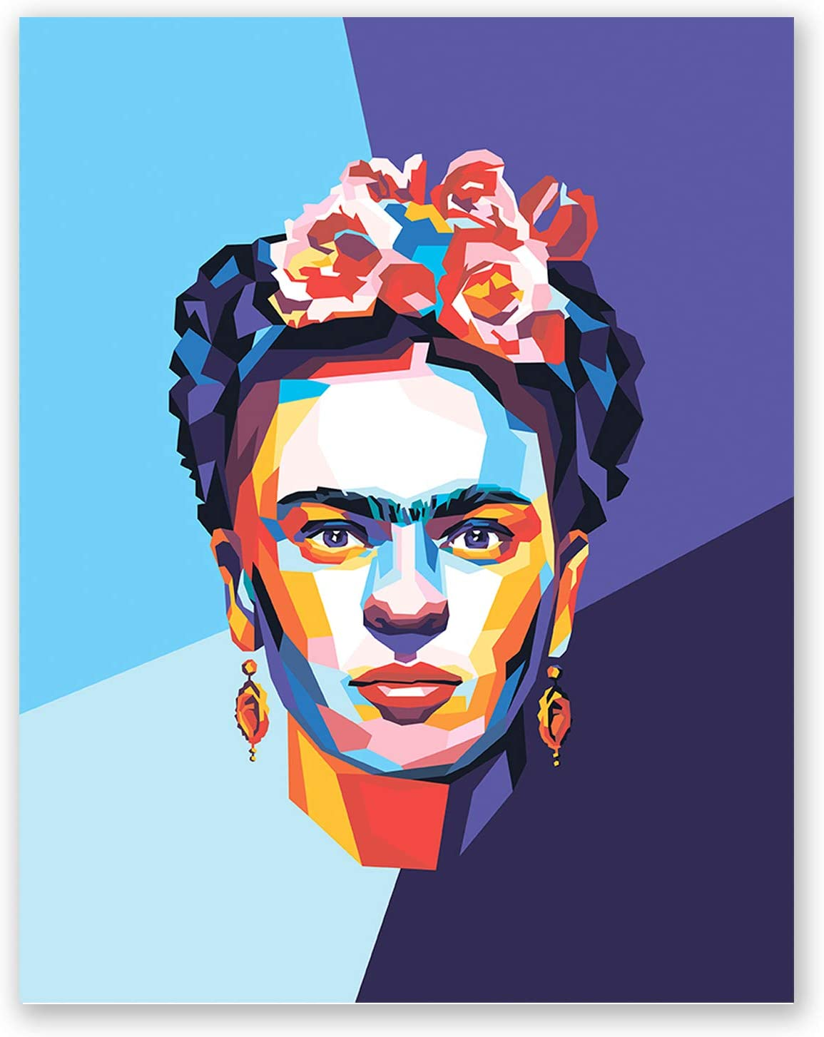 Frida Kahlo Poster – Inspirational Pop Art Portrait – Feminist Mexican Wall Home Decor – Iconic Artist (11x14)