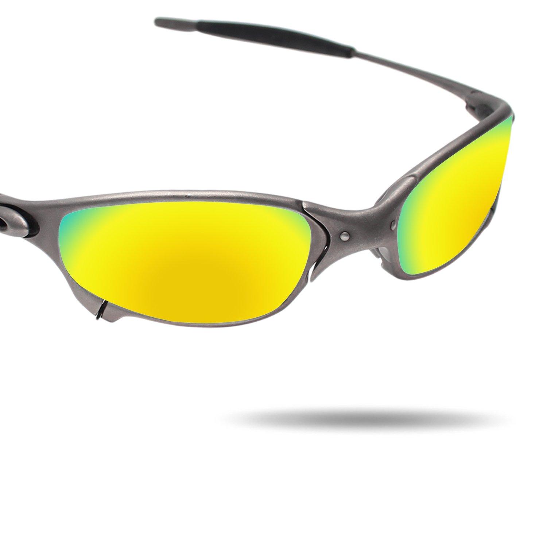 172022da76 Amazon.com  Fiskr Anti-saltwater Polarized Replacement Lenses for Oakley  Juliet Sunglasses - Various Colors  Clothing