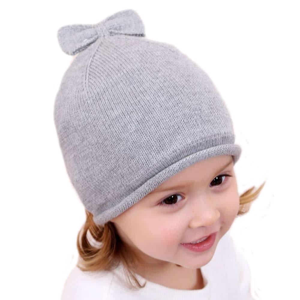 Gifts Treat Cappello delle Ragazze Ragazze Inverno Berretto a Maglia Cotone Palla Caldo Cappelli per Bambini per 1-6 Anni Bambini