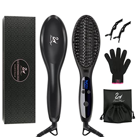 Review Hair Straightening Brush, SwanMyst